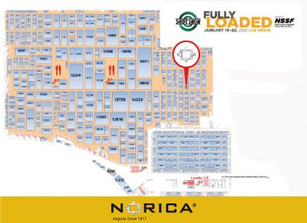 The stand of Norica at Shot-Show 2021